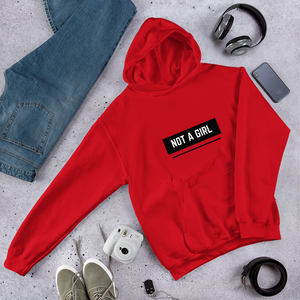 Not A Girl Trans Hoodie Red  | ThisIsTheirs