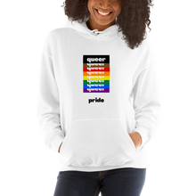 Load image into Gallery viewer, Queer Pride White Hoodie