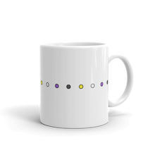 Load image into Gallery viewer, Non-Binary Simple Dots Mug - EnbyTee