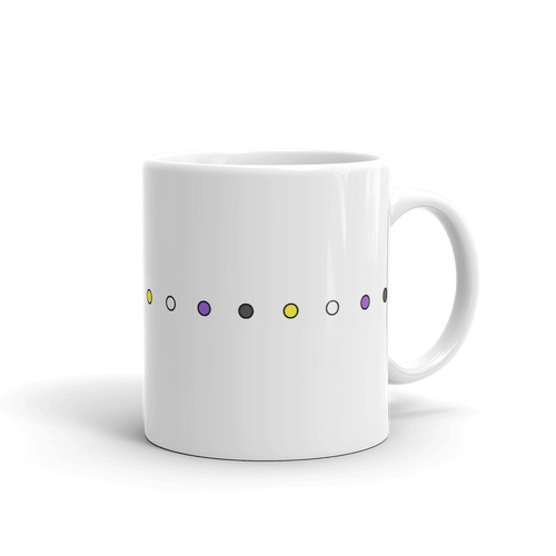 Non-Binary Simple Dots Mug - EnbyTee