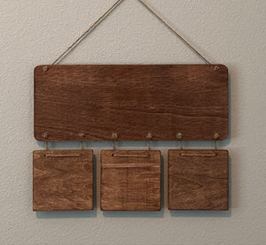 It's Fall Y'all Wood and Cinnamon Shape Wall Hanging