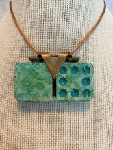 Load image into Gallery viewer, Emerald and Teal Domino Pendant
