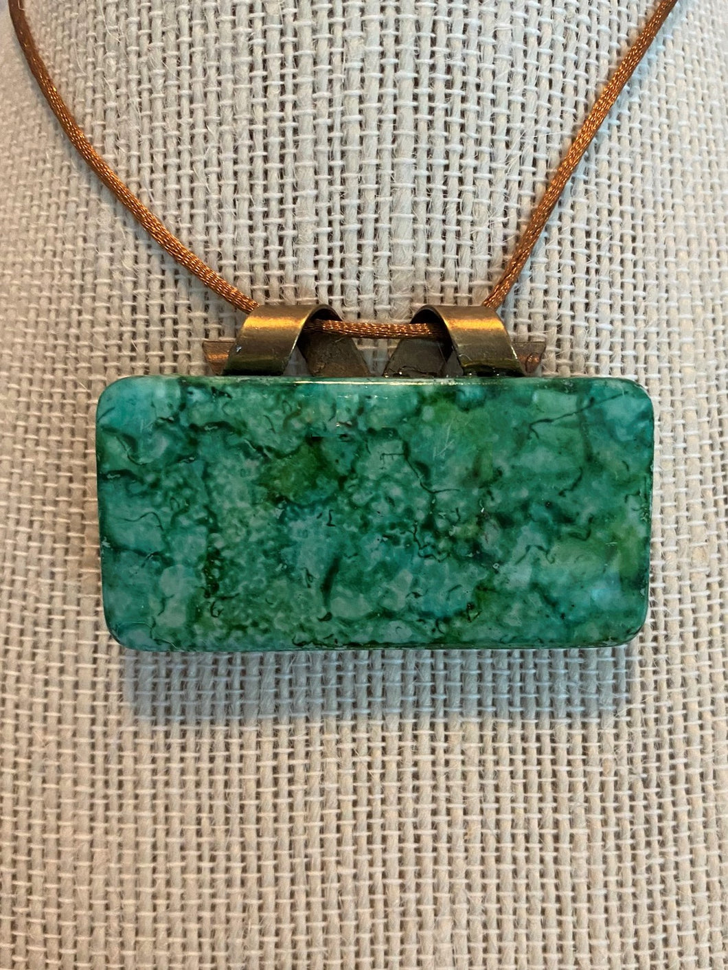 Emerald and Teal Domino Pendant