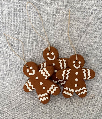 Gingerbread Men Trio--Medium Sized