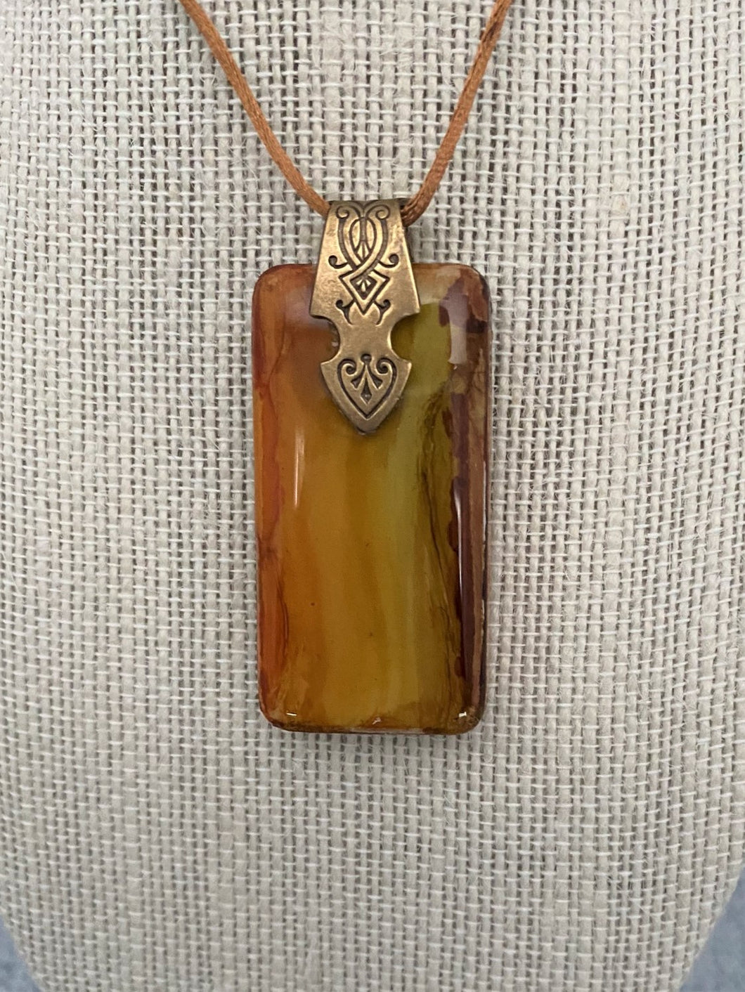 Wood Grain Domino Pendant