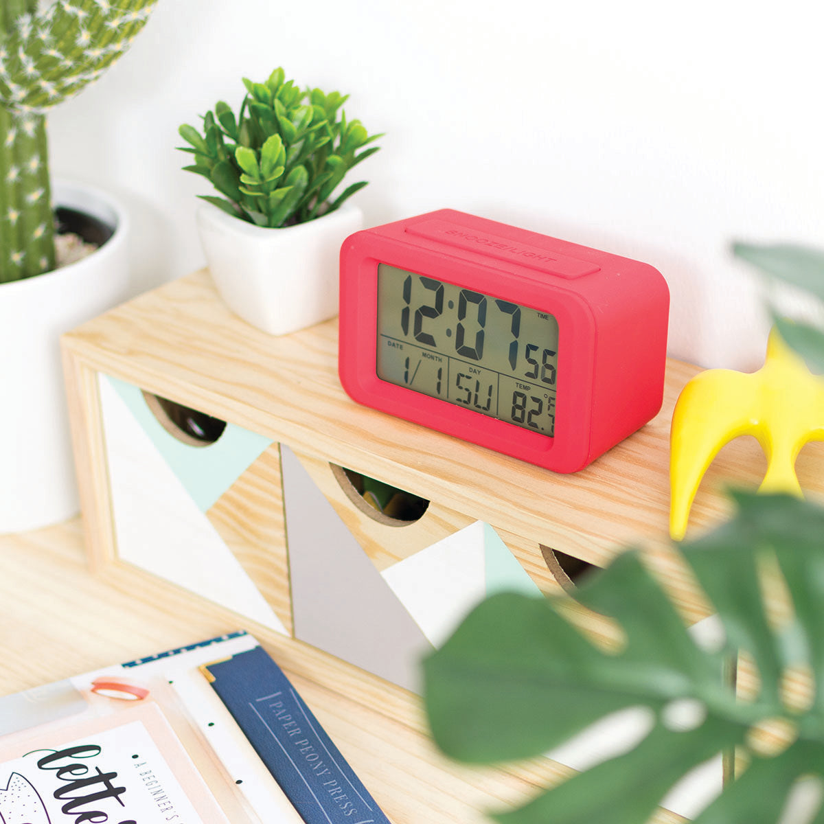 Reloj Despertador digital rojo