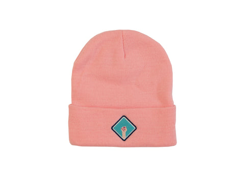 gorro girl power rosa