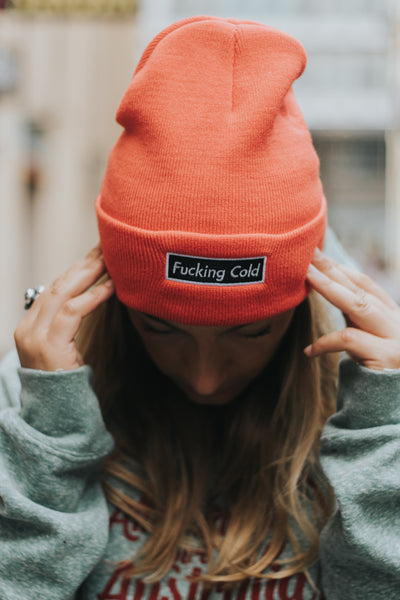 Gorro Fucking cold rojo - Shop 987