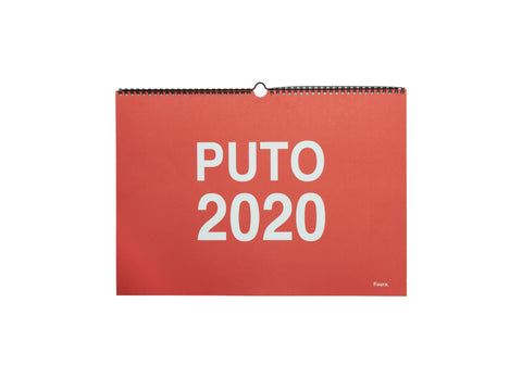 Calendario Puto 2020 pared