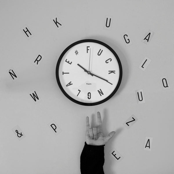 Reloj pared Fucking late Blanco - Shop 987
