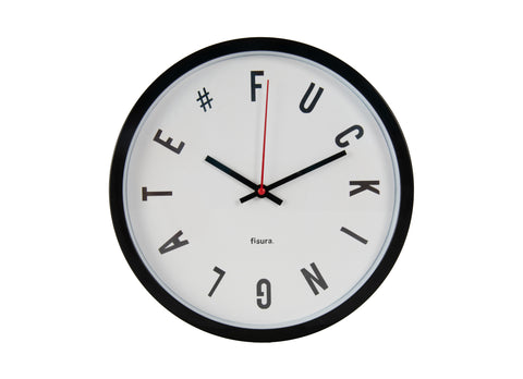 Reloj pared Fucking late Blanco