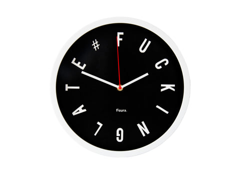 Reloj pared Fucking late Negro - Shop 987