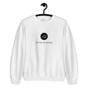 i'm not american | sweatshirt | english