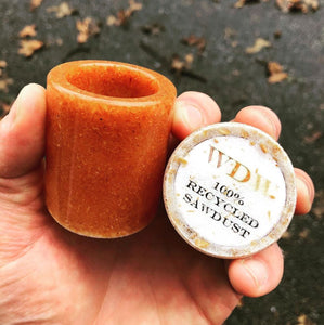 Recycled Sawdust Shot Glass