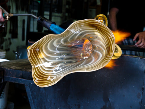 Molding glass piece
