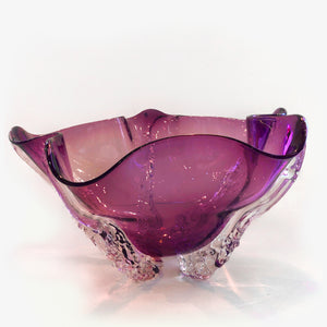 Red Amethyst Octo Bowl