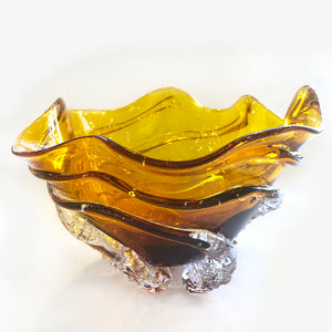 Gold Amber Octo Bowl