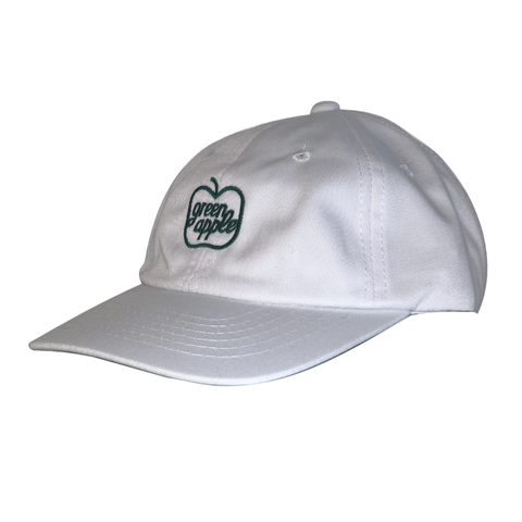 GREEN APPLE - OG STRAP BACK HAT - WHITE