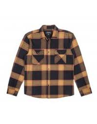 BRIXTON - BOWERY FLANNEL - BLACK / GOLD