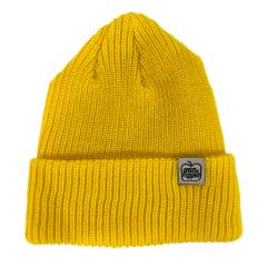 GREEN APPLE - TAB BEANIE - YELLOW
