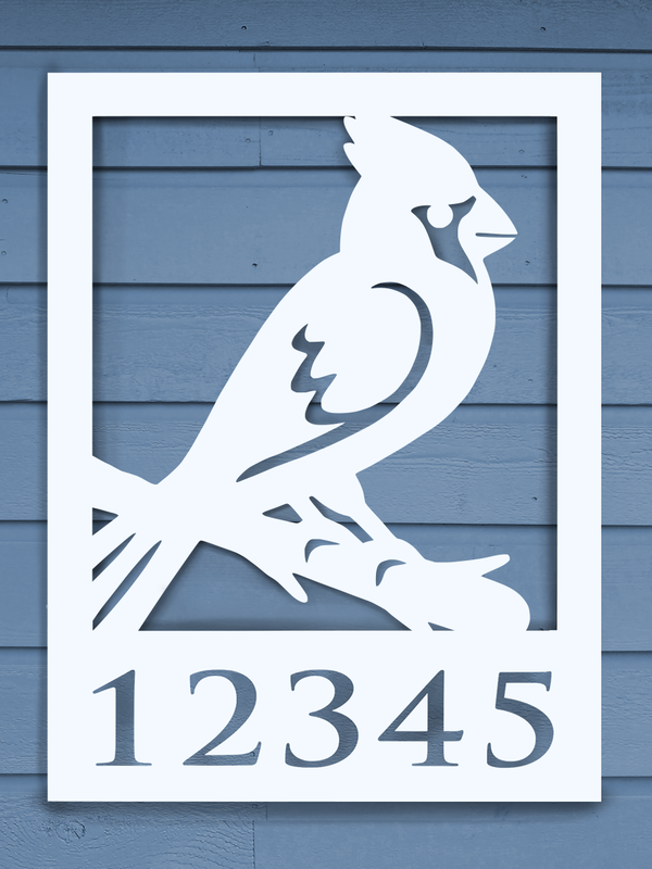 Cardinal House Plaque-Nature Brackets