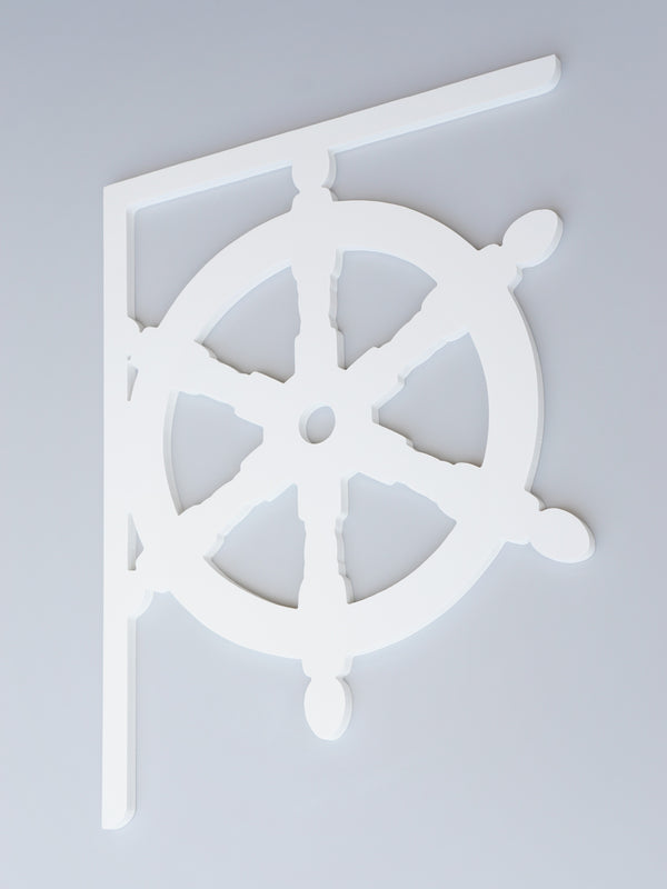 Ship Wheel Decorative Bracket