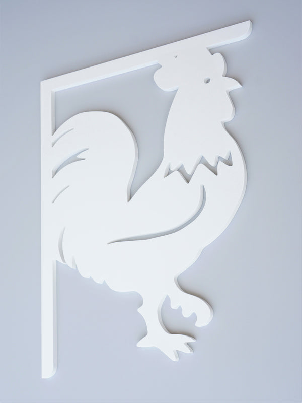 Rooster Decorative Bracket