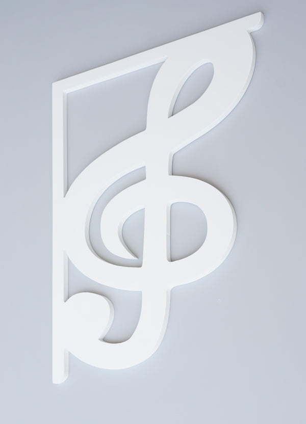 Treble Clef Decorative Bracket-Nature Brackets