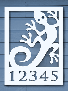 Lizard House Plaque