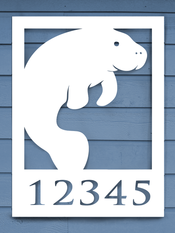 Manatee House Plaque-Nature Brackets
