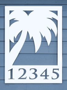 Palm Tree House Plaque