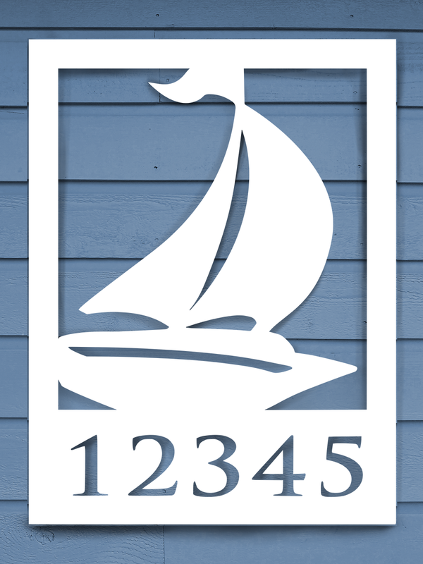 Sailboat House Plaque-Nature Brackets
