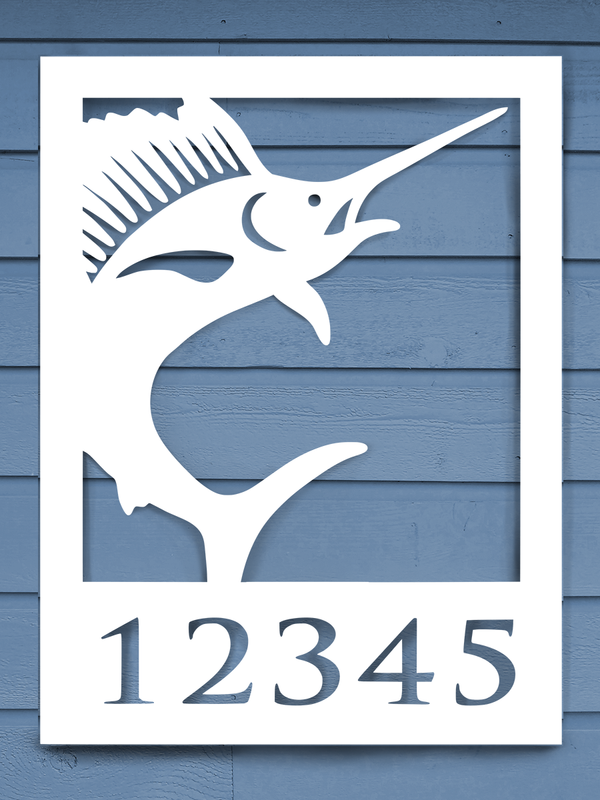 Sailfish House Plaque-Nature Brackets
