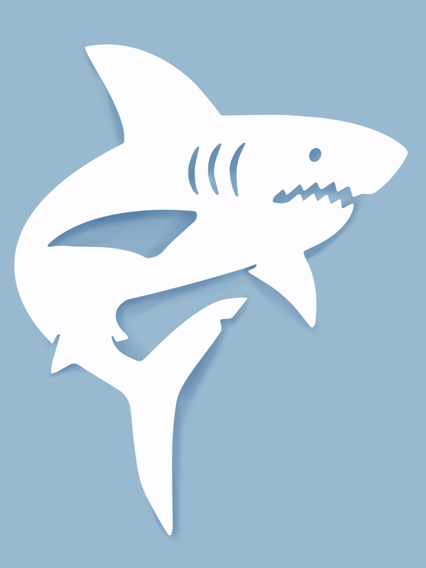 Shark Wall Art-Nature Brackets