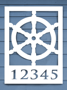 Ship Wheel House Plaque