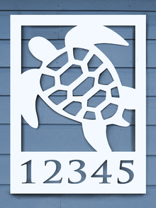Sea Turtle House Plaque