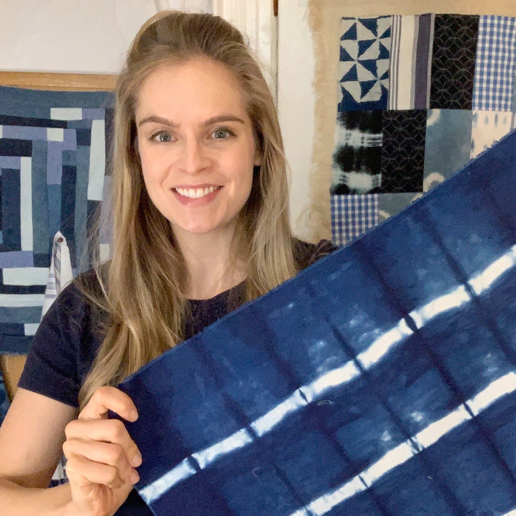 How To Shibori- Beginner Bold Stripes Folding Technique