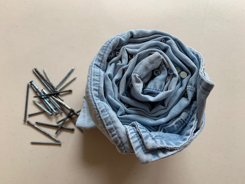 shibori folding technique upcycling