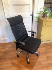 office chair before reupholstery