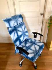 office chair reupholstery- put back togeher