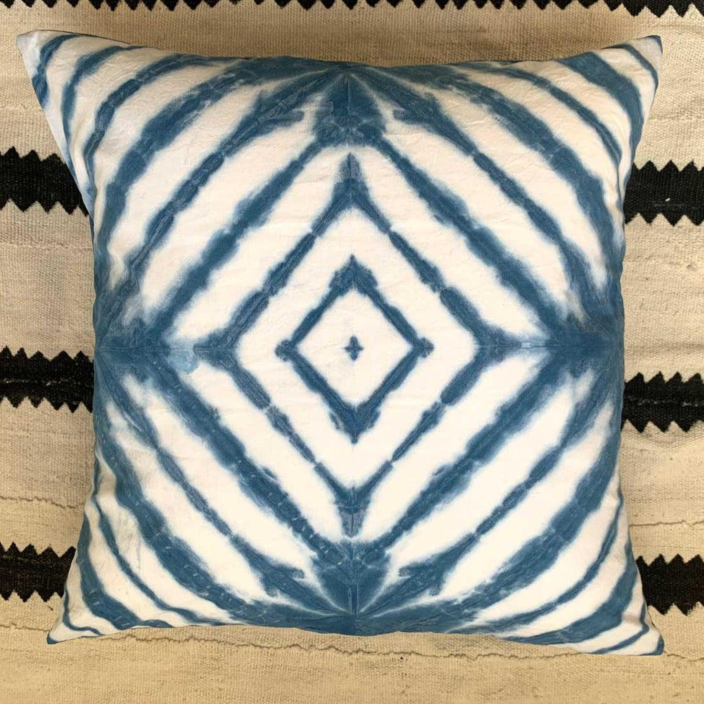Shibori Pillow Diamond Pattern 20x20""