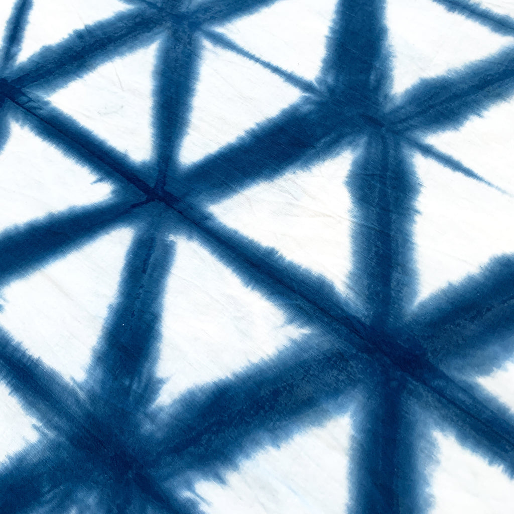 Shibori Indigo Tie Dye Hexagon Digital Download