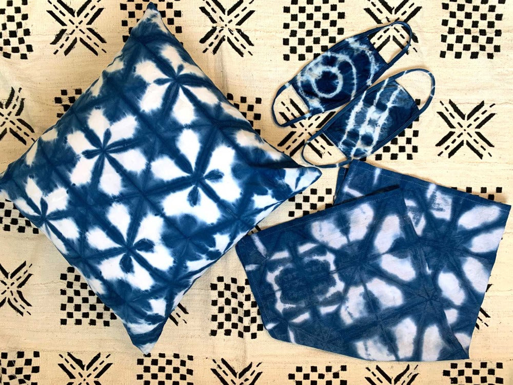 indigo dyeing kit with shibori tutorial