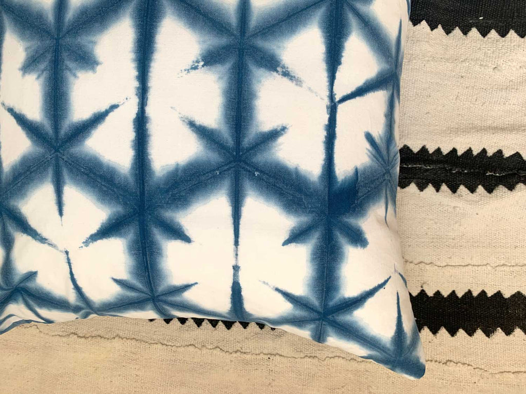 Shibori Pillow Flower Pattern  20x20