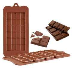 Silicone Break-Apart Chocolate, Protein and Energy Bar Molds (Set of 2)