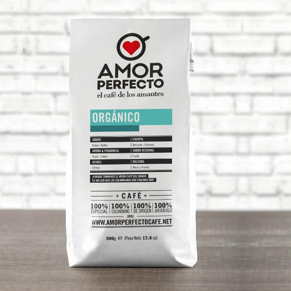 Amor Perfecto Organic Ground Gourmet Espresso Colombian Coffee Medium Roast 17.6oz Bag
