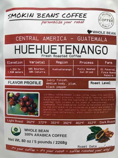 Guatemala Huehuetenango – Central America – Roasted To Order Coffee