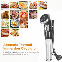 Sous Vide Chocolate Tempering & Cooker, Sturdy Immersion Circulator, 1500 Watts Vacuum Food Cooker, LCD Digital Display, Stainless Steel