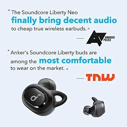 2019 Upgraded, Soundcore Liberty Neo True Wireless Earbuds, Pumping Bass, IPX7 Waterproof, Secure Fit, Bluetooth 5 Headphones, Stereo Calls, Noise Isolation