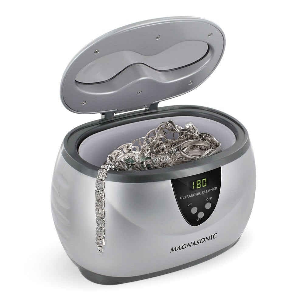 Magnasonic Professional Ultrasonic Jewelry Cleaner with Digital Timer for Eyeglasses, Rings, Coins